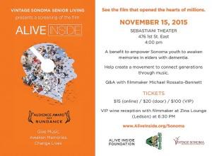 Alive Inside - Sebastiani Theater, Nov. 15