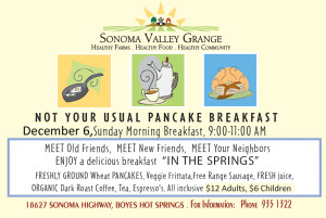 SV Grange Pancake Breakfast @ Sonoma Valley Grange | Sonoma | California | United States