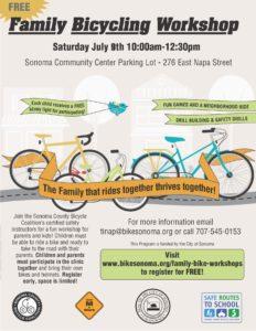 Family Bicycling Workshop @ Sonoma Community Center - Parking Lot | Sonoma | California | United States