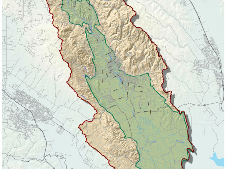 Sonoma Valley Groundwater Basin Map