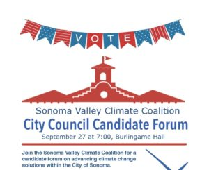 City Council Candidate Forum - Sonoma Valley Climate Coalition @ Burlingame Hall | Sonoma | California | United States